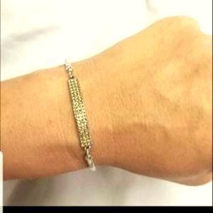 Showy Sparkle Brown Bracelet